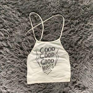 Good Good Good Vibes Crop Top!